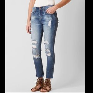 Daytrip Stretch Lynx Ankle Skinny Jeans Raw hem 24